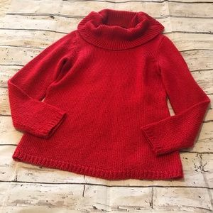 New York & Company Red Cowl Neck Sweater M